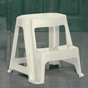 2 Basamaklı Merdiven Tabure Beyaz