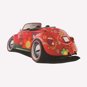 Kırmızı Araba Çocuk Halısı KC07