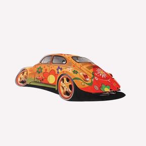 Turuncu Araba Çocuk Halısı KC10