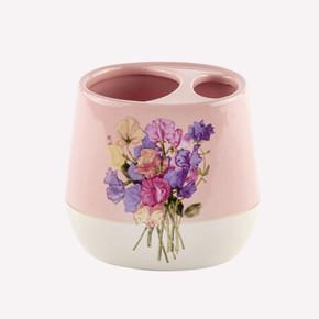 Pink Flower Diş Fırçalık