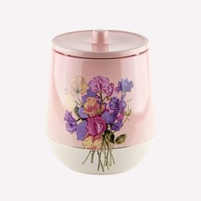 Pink Flower Çöp Kutusu