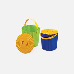 Yuvarlak Plastik Kapaklı Kutu Renkli