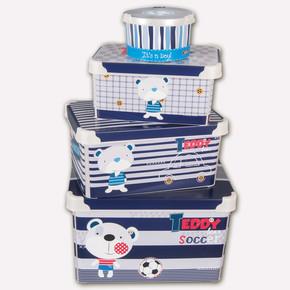 Teddy Soccer 4'lü Saklama Kutusu