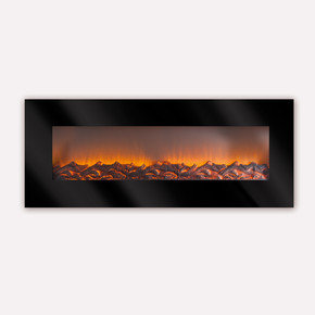 Asnorm 1800W LCD Plazma Dekoratif Şömine Siyah