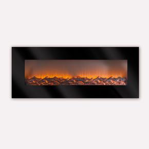 1800W LCD Plazma Dekoratif Şömine Siyah
