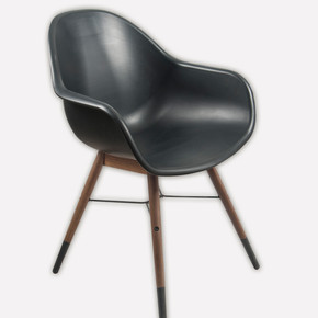 Chamonix Ahşap Sandalye Siyah