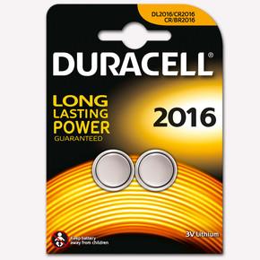 Duracell Düğme Pil CR 2016 2'li 3V