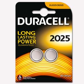 Duracell Düğme Pil CR 2025 2'li 3V