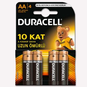 Duracell Kalem Pil 4'Lu AA