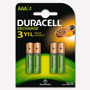 Duracell AAA Şarj Edilebilir Kalem Pil 4'lü Paket