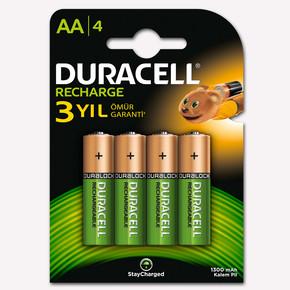 Duracell AA Şarj Edilebilir Kalem Pil 4'lü Paket