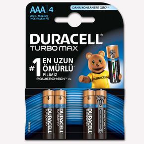 Duracell İnce Kalem Pil Ultra 4'Lu AAA