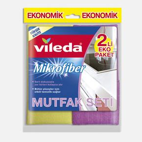 Vileda Mikrofiber Mutfak + Konfor Bez 2'li Paket