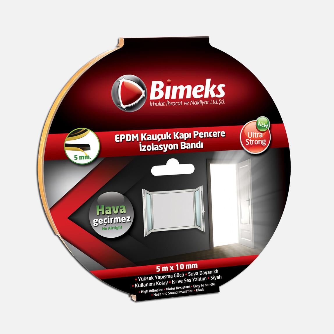 5mmx10mmx5mt Epdm Kauçuk Kapı Pencere Bandı Siyah