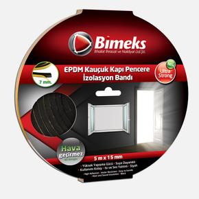 7mmx15mmx5mt Epdm Kauçuk Kapı Pencere Bandı Siyah