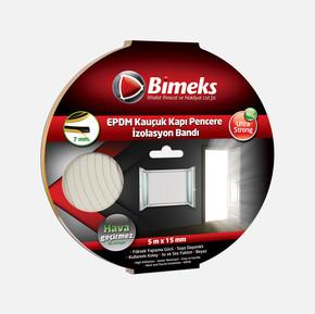 7mmx15mmx5mt Epdm Kauçuk Kapı Pencere Bandı Beyaz