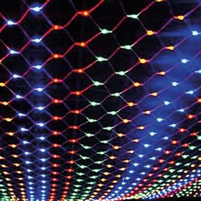 Renkli 3x1 metre 300 Ledli  Ağ