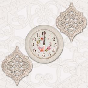 Tuğra Saat Seti Krem