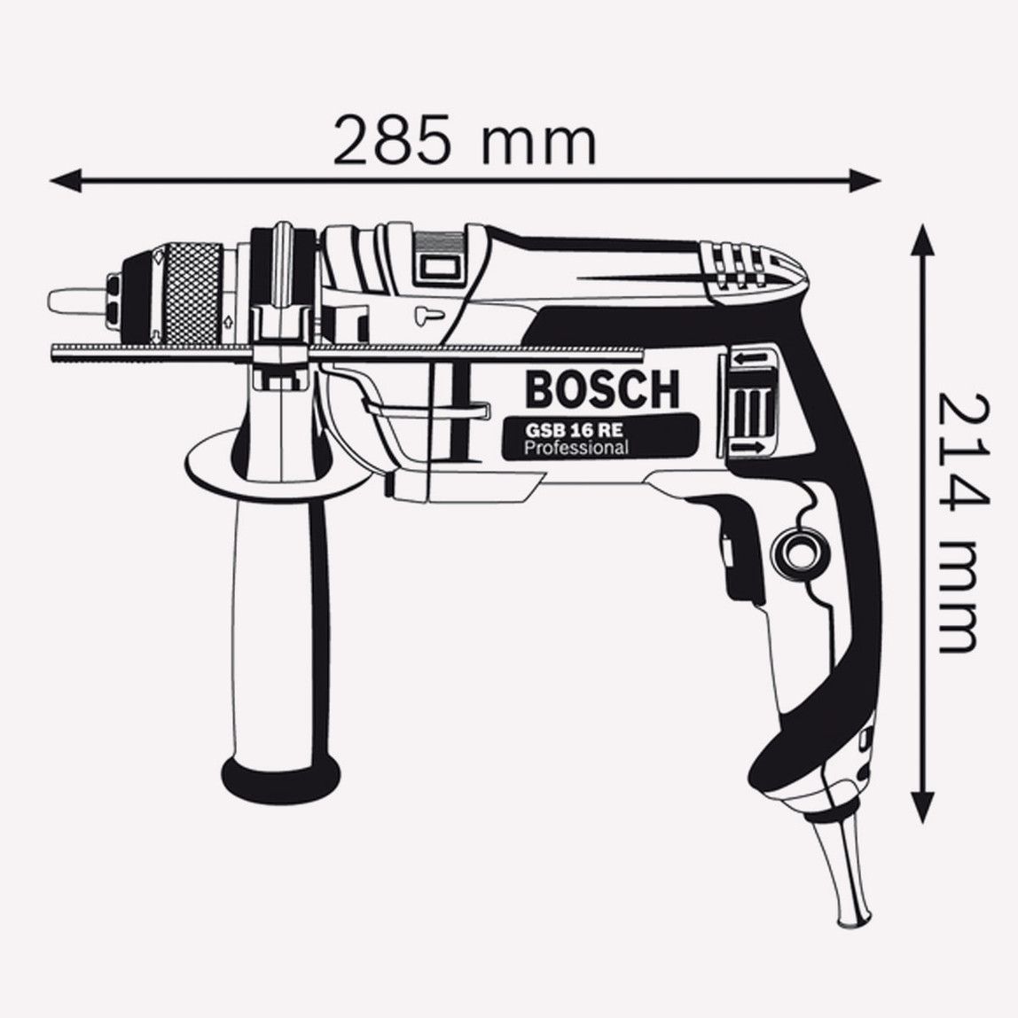 Bosch GSB-16RE Profesyonel 750W 18 mm Darbeli Matkap