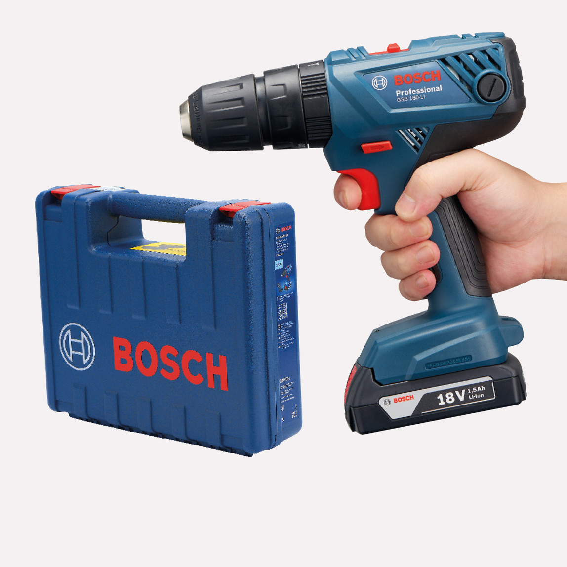 Bosch GSB 180-LI 18V 1,5 Ah Çift Akülü Profesyonel Darbeli Vidalama