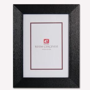 15x21 cm Siyah Ağaç Kabuğu Resim Çerçevesi