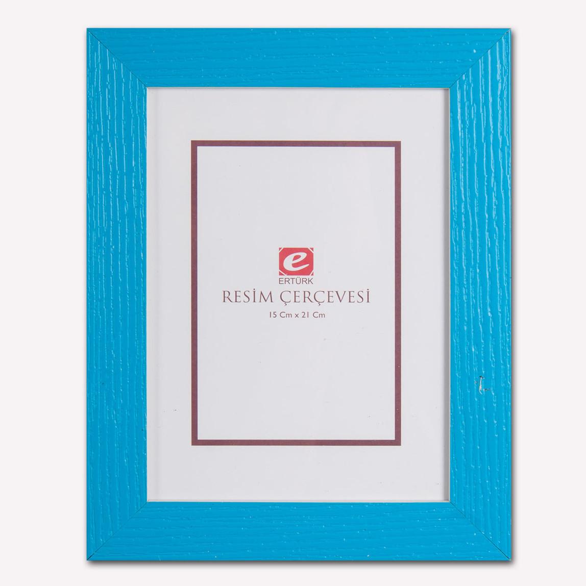 15x21 cm Mavi Masa Üstü Resim Çerçevesi