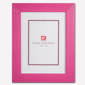 15x21 cm Pembe Masa Üstü Resim Çerçevesi