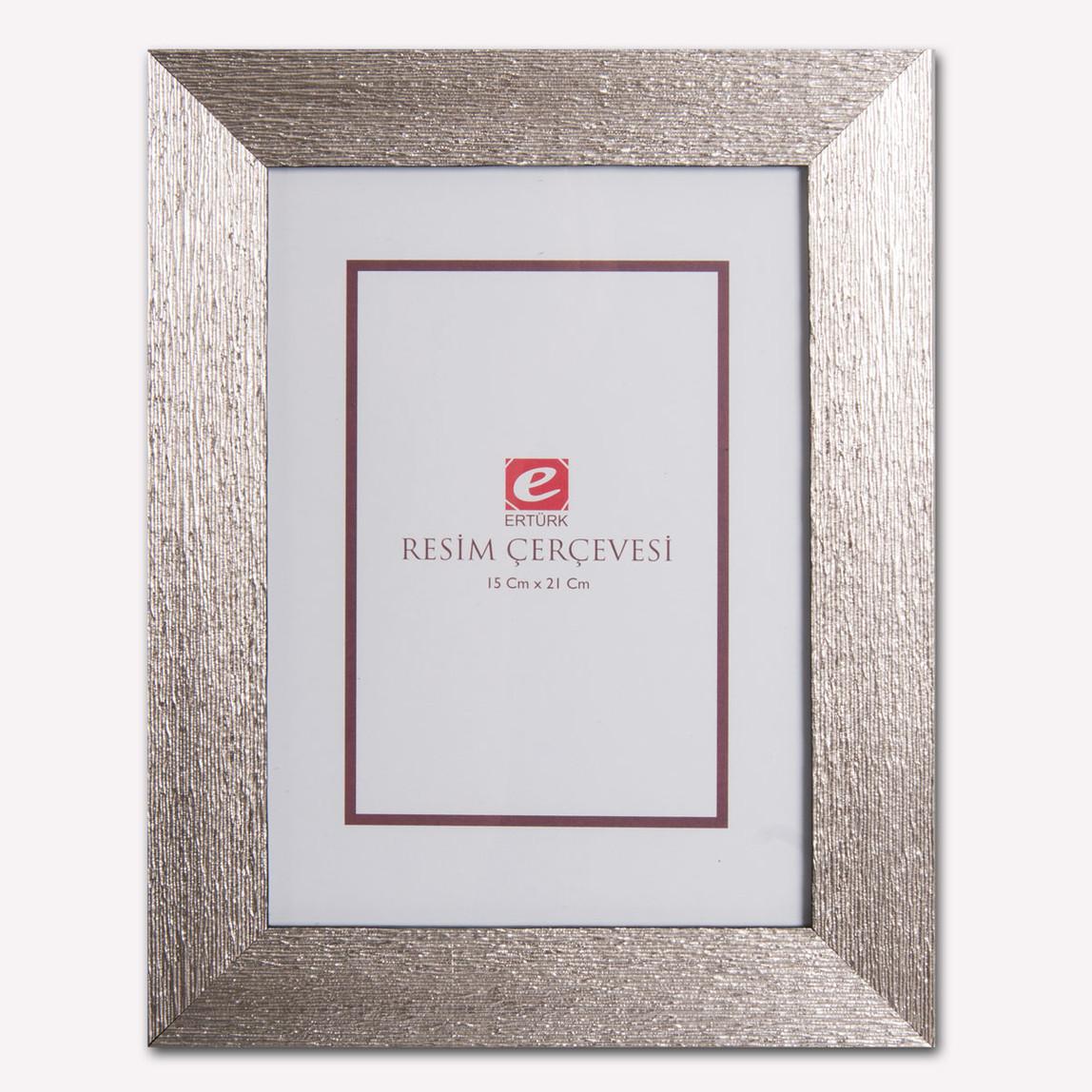 15x21 cm Gümüş Ağaç Kabuğu Resim Çerçevesi