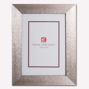 Ertürk 15x21 Gümüş Ağaç Kabuğu Resim Çerçevesi
