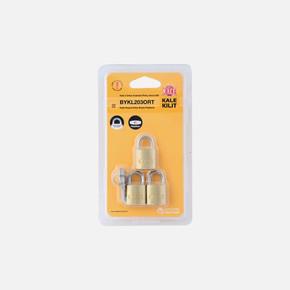 3 x ortak Anahtarlı Pirinç Asma Kilit 20 mm