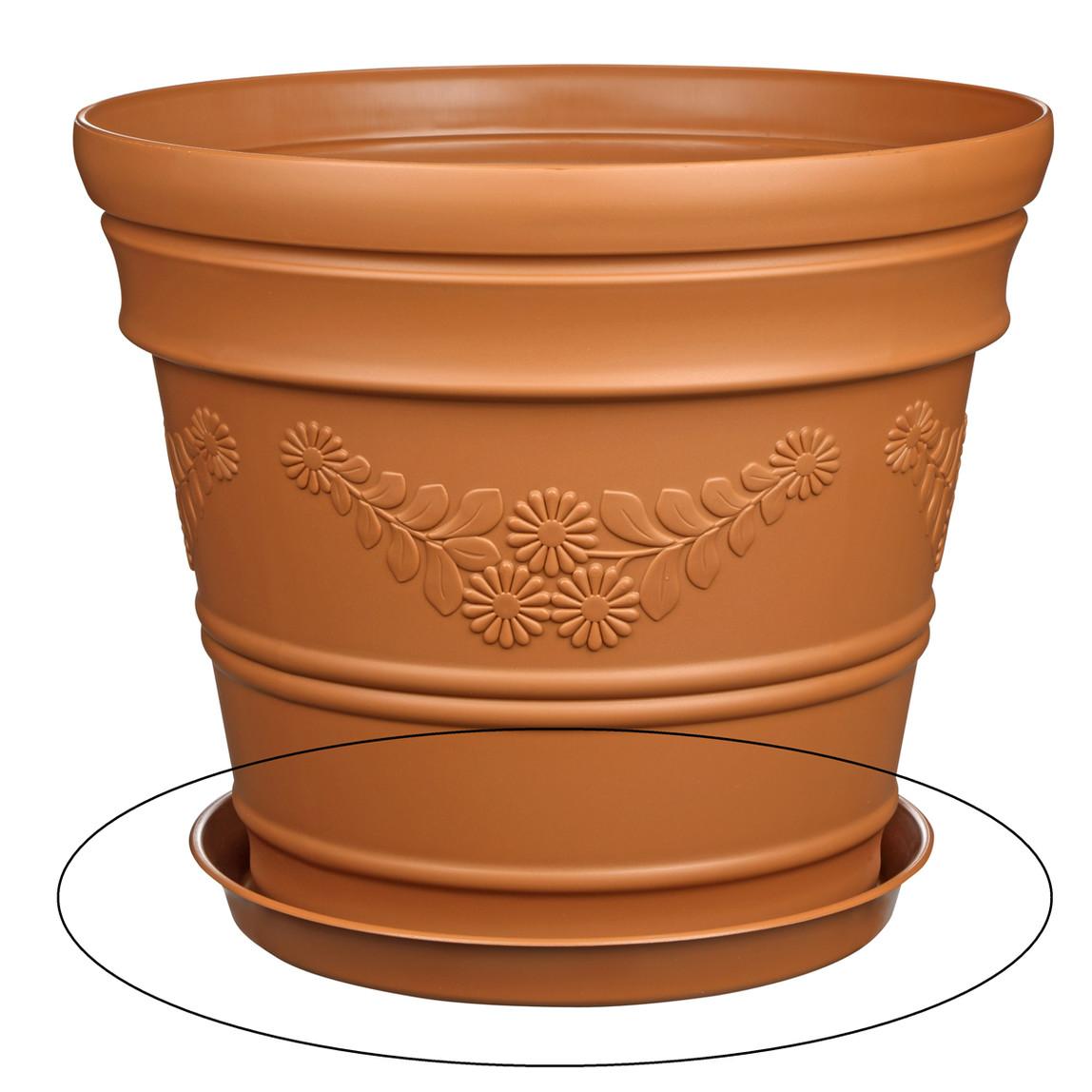 Saksı Tabağı Kahve Antik 12lt