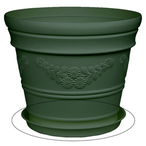 Saksı Tabağı Yeşil Antik 12lt