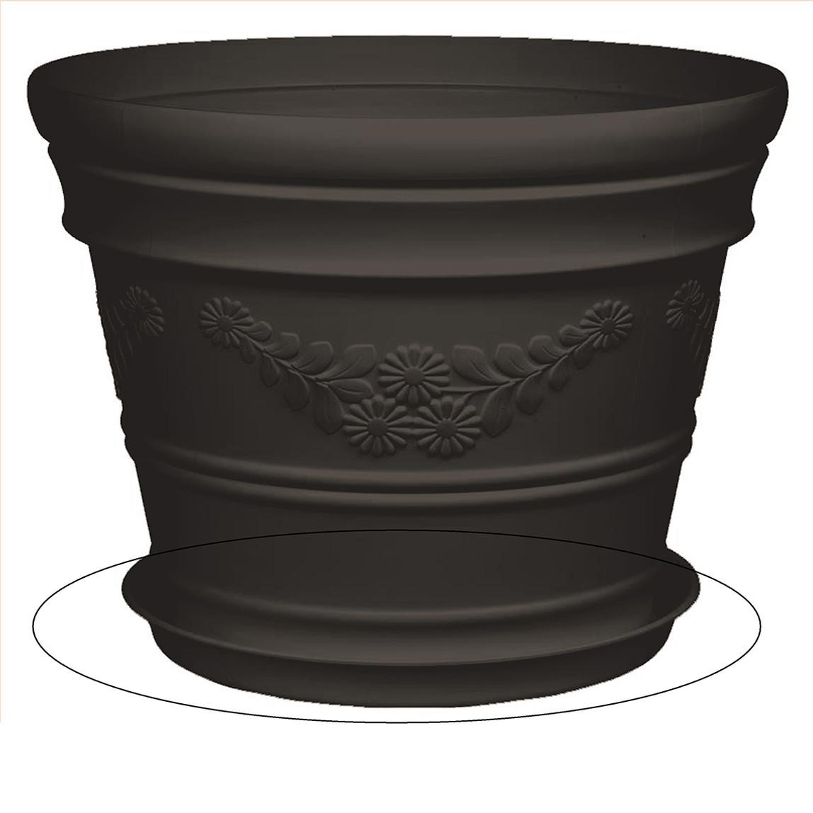 Saksı Tabağı Siyah Antik 12lt
