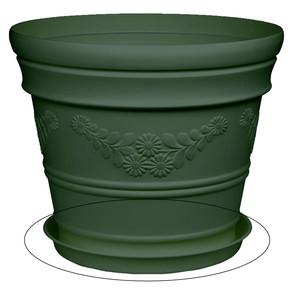 Saksı Tabagı Yeşil Antik 21lt