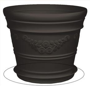 Saksı Tabağı Siyah Antik 21lt