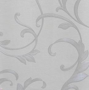 Yaprak Gümüş Vinyl Duvar Kağıdı
