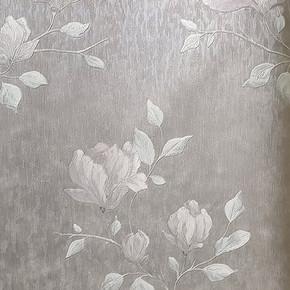 Çiçek Mor Vinyl Duvar Kağıdı