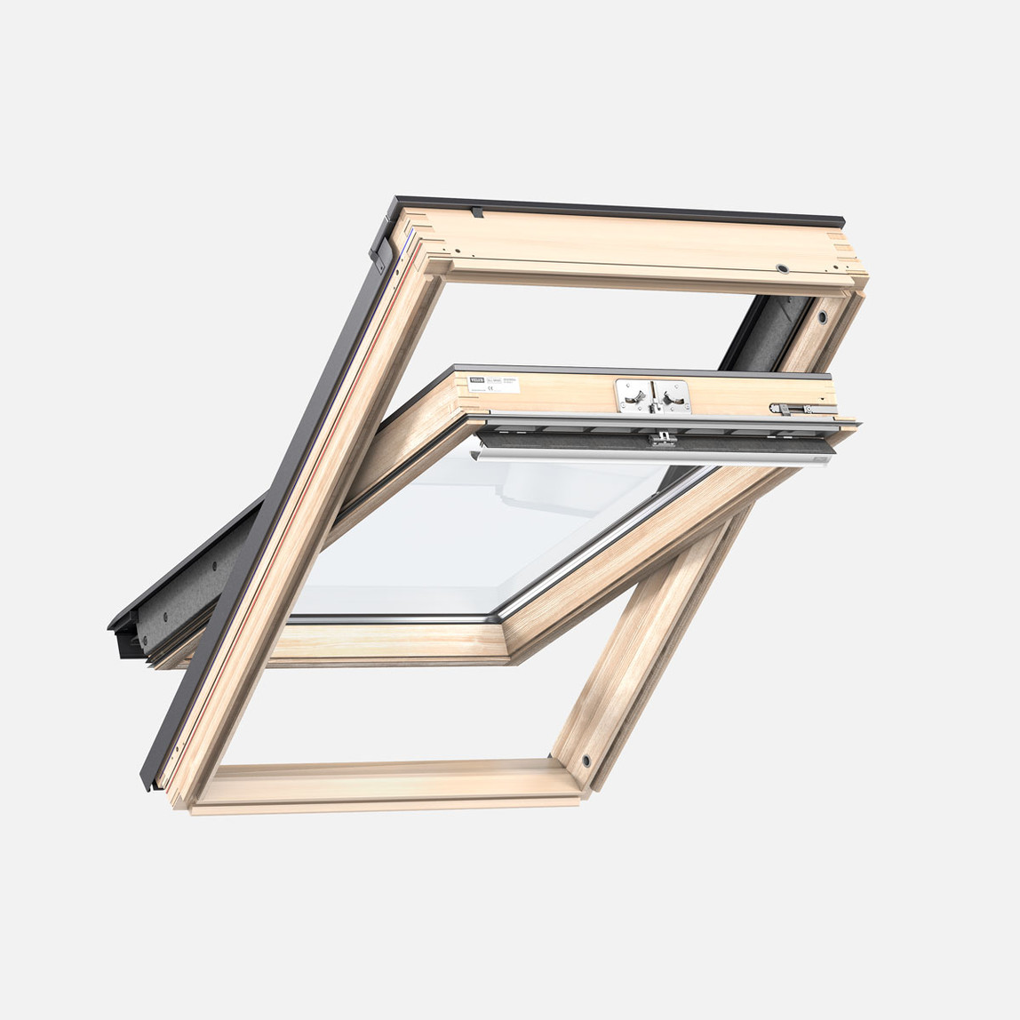Basıc Ahşap Çatı Penceresi  55x98 cm