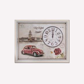 Revello 46x59cm 3D Kabartmalı Resim Saat