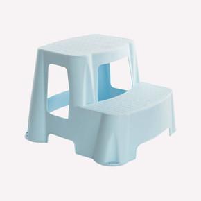 2 Basamaklı Plastik Merdiven - Mavi