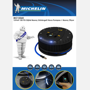 Michelin MC12260 12V 120PSI Dijital Basınç Göstergeli Hava Pompası (Lastik Basınç Ölçer)