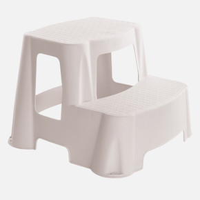 2 Basamaklı Plastik Merdiven - Beyaz