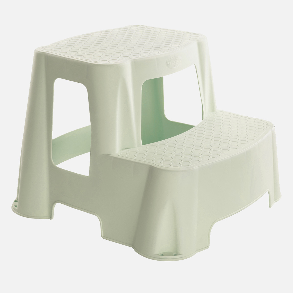 2 Basamaklı Plastik Merdiven - Krem