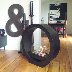 Starfire Round Design Dekoratif Şömine