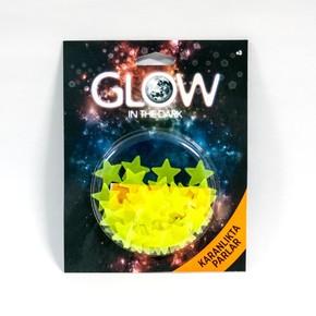 Renkli Fosforlu Mini Yıldız-Sarı