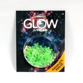 Renkli Fosforlu Mini Yıldız-Yeşil