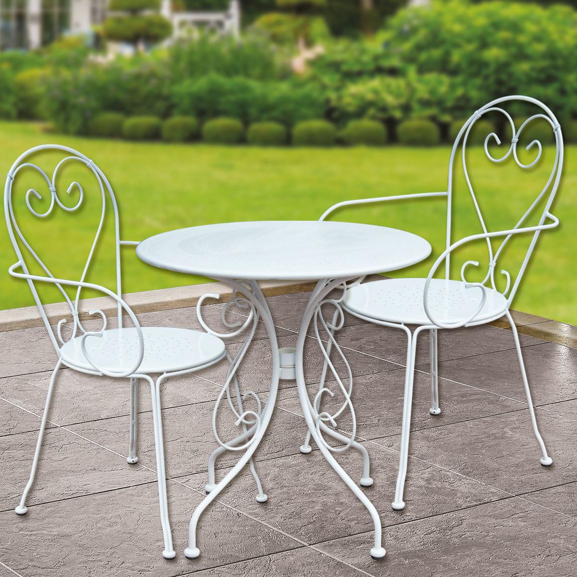 Sunfun Steel Metal Bahçe Sandalyesi Beyaz