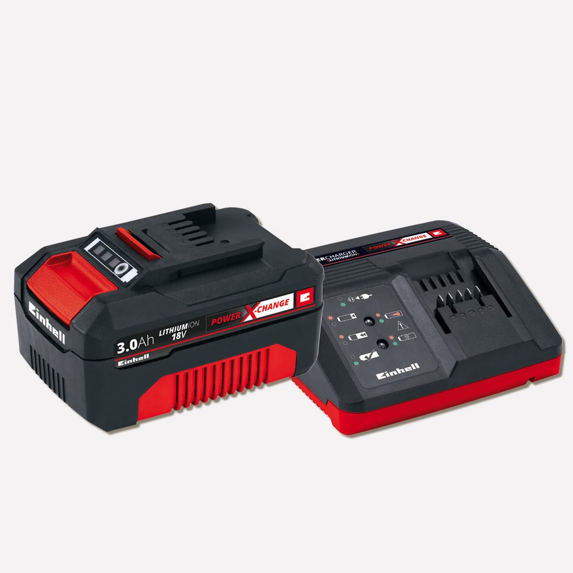 Einhell 18 V 3.0 Ah Power X-Change Starter Kit Fast Charger