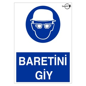 LOREX LR-IS230 Baretini Giy Yazılı PVC Uyarı İkaz Levhası