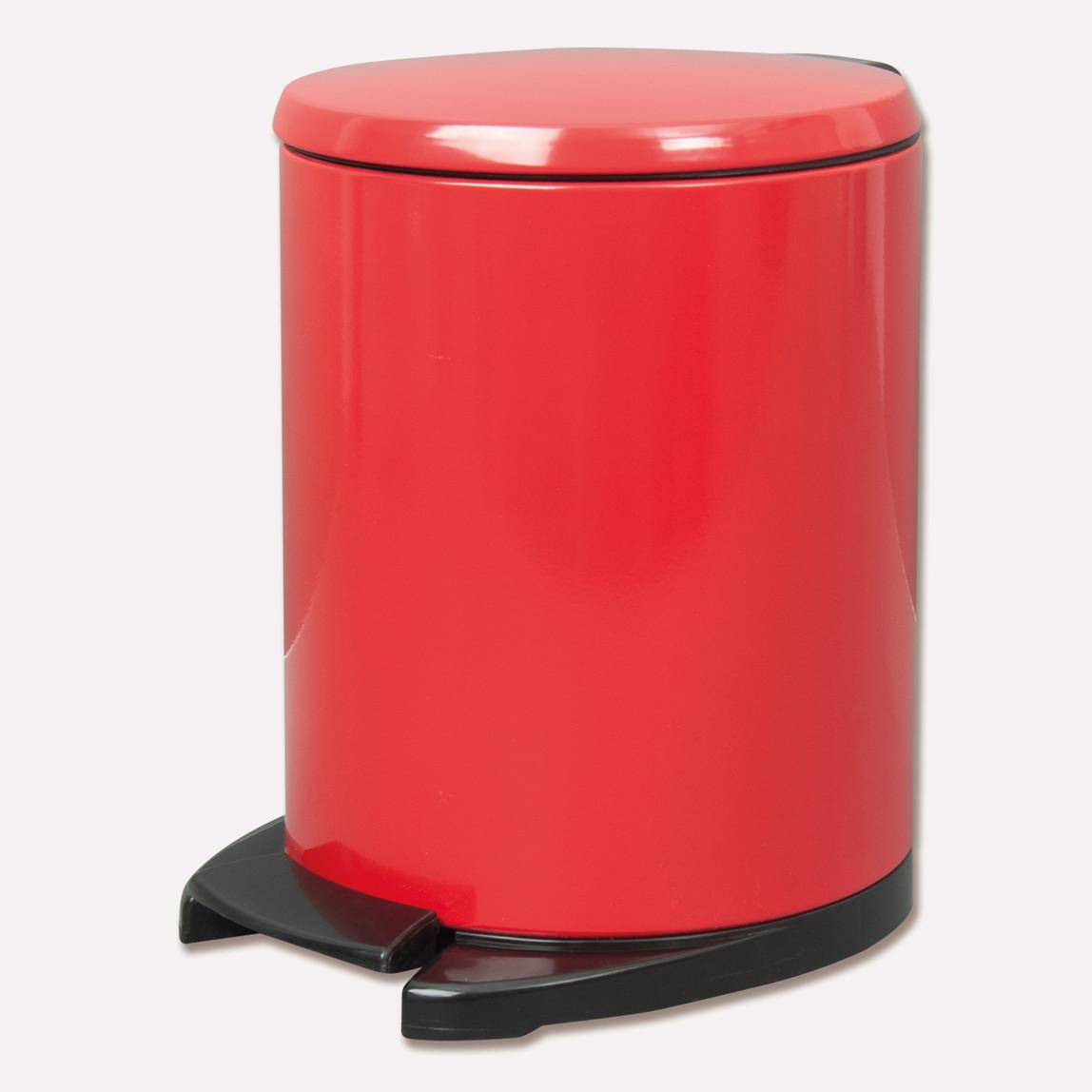 Cigo Pedallı Çöp Kovası 6 Lt Kırmızı İç Kısım Siyah